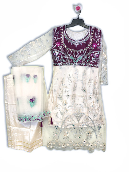 Embroidery Designer Net Salwar Suit