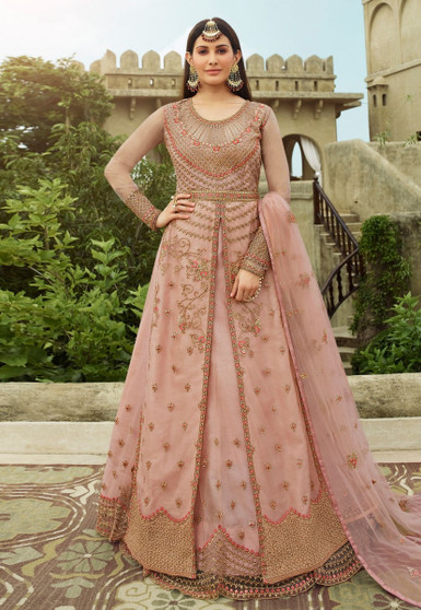Embroidery Net Swarovski Work Salwar Suit