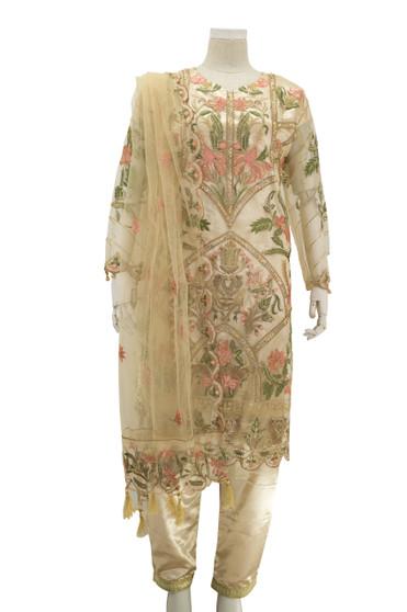 Gorgeous Embroidery Net Designer Suit