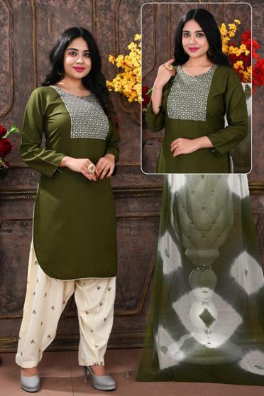New Embroidery Work Readymade Patiyala Suit