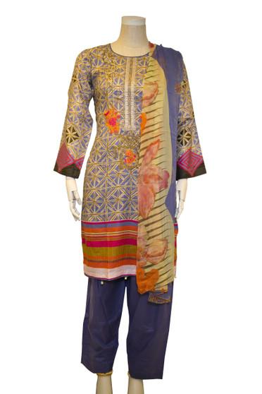 Pakistani Embroidery Cotton Salwar kameez
