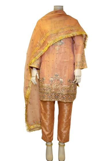 Beautiful Embroidery Work Pakistani Designer Suit