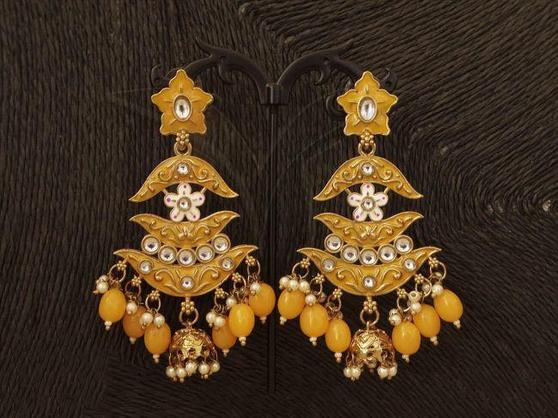 Designer Antique Jhumka Earrings