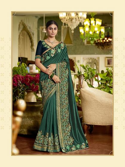 Wedding Wear Heavy Embroidery Saree
