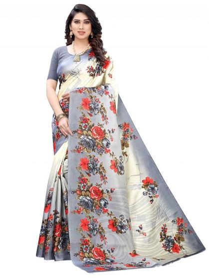 New Beautiful Design Printed Silk Saree