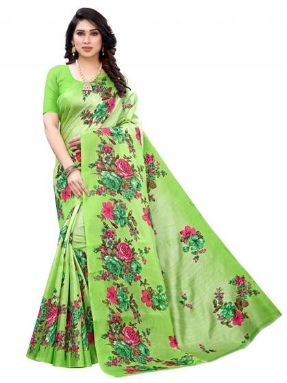 New Design Printed Silk Saree