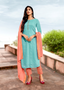 Viscose Designer Fancy Salwar Kameez Blue