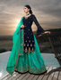 Designer Embroidery Work Skirt Palazzo Suit Navy Blue