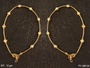 GOLDEN BEADS ONE LINE DELICATE ANTIQUE PAYAL (1 Pair)