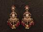Designer Antique Jhumka Earrings Maroon