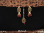 Antique Designer Party Wear Maang Tikka With Earrings