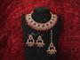 Designer Party Wear Nacklace Set With Maang Tikka