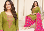New Gorgeous Embroidery Work Patiyala Suit