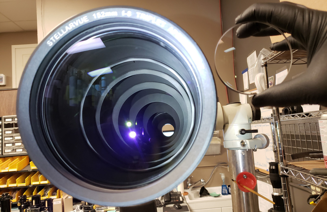 80-mm front lens element next to SVX152T in production