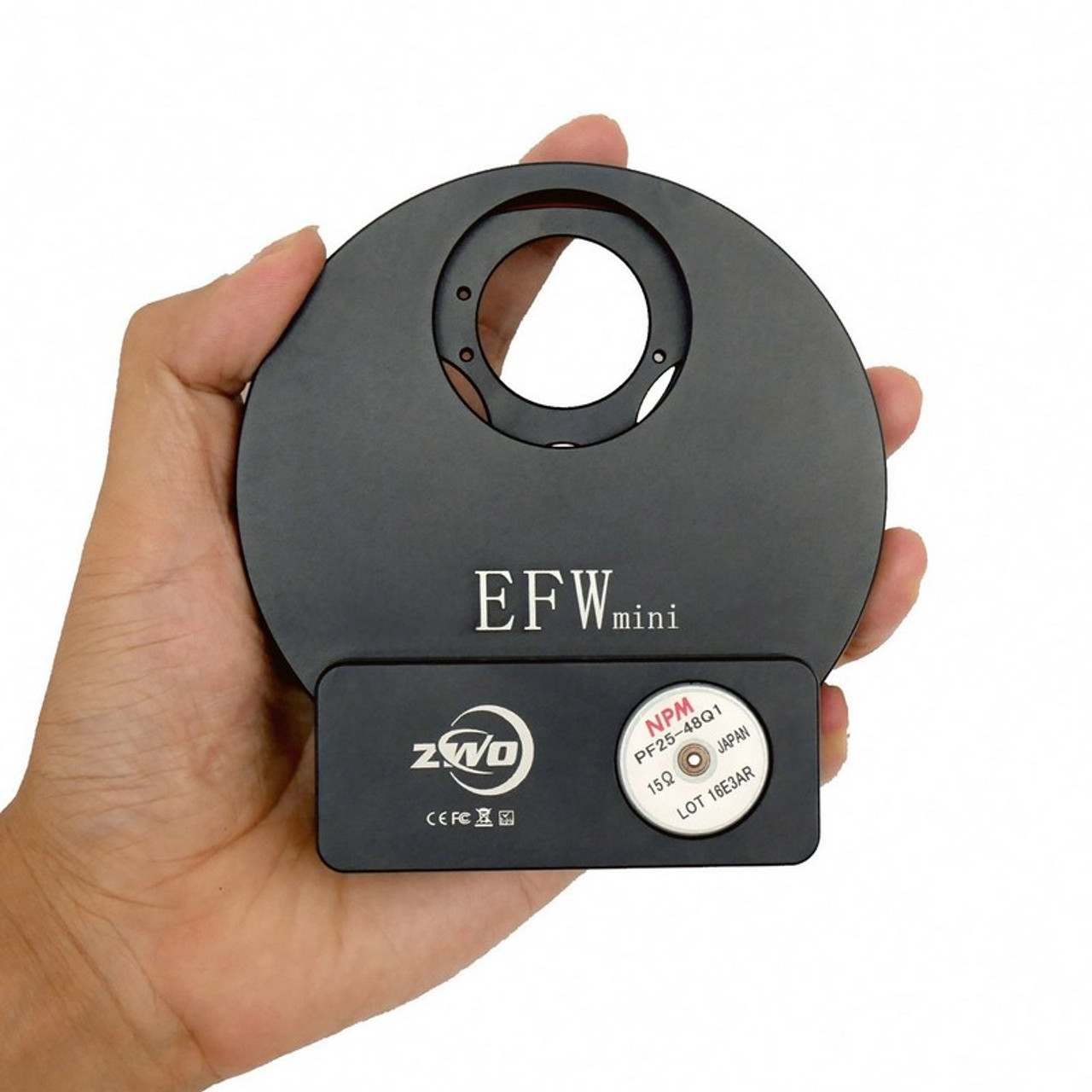 """ZWO EFW Mini Electronic Five-Position Filter Wheel -1.25""""/31mm"""