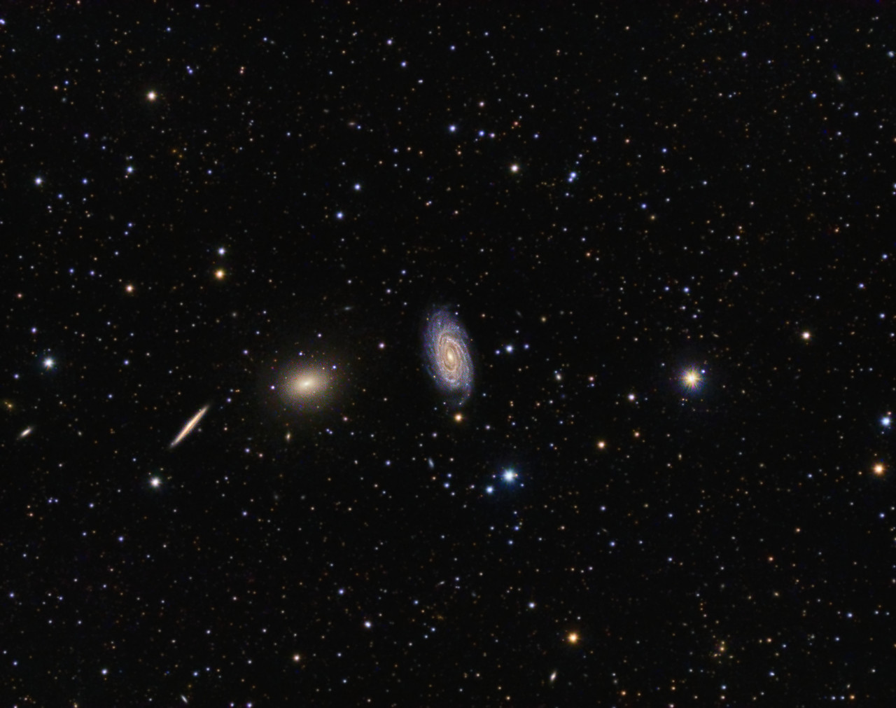 NGC5985 and Friends - Bill Clugston