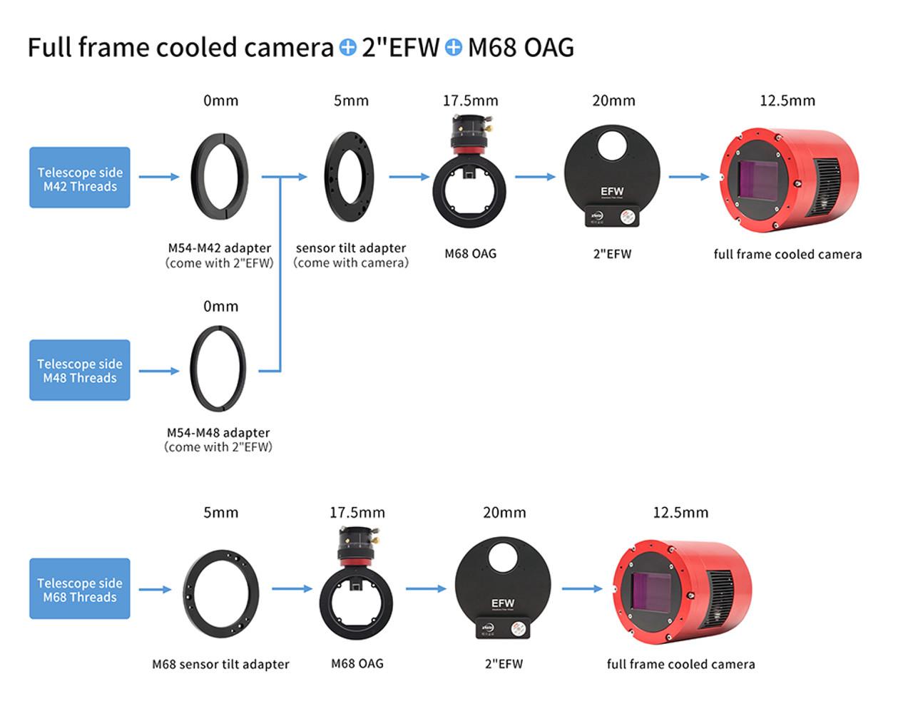 ZWO ASI6200 Pro USB3.0 Cooled Color Camera - ASI6200MC-P