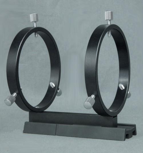 R080V- Finder Rings on Vixen Style Dovetail Base