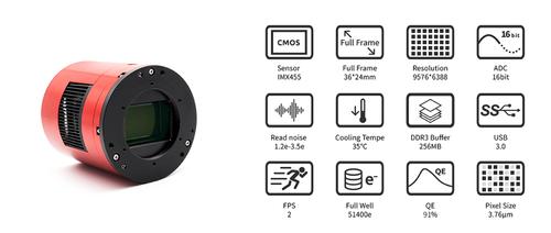 ZWO ASI6200 Pro USB3.0 Cooled Monochrome Camera - ASI6200MM-P