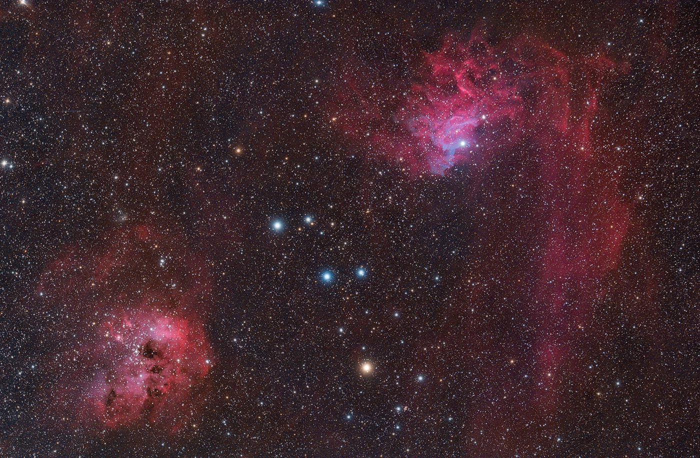 ​Flaming Star Nebula & Tadpole Nebula - Keith C. Lisk