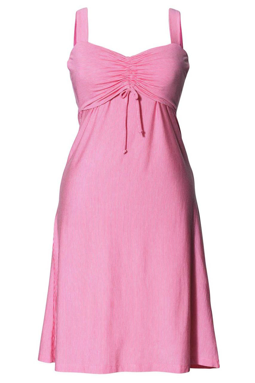 31500dab5d6f6 Boob Design Candy Nursing Dress, Lollipop Pink/Off-white Stripe - Izzy's Mum
