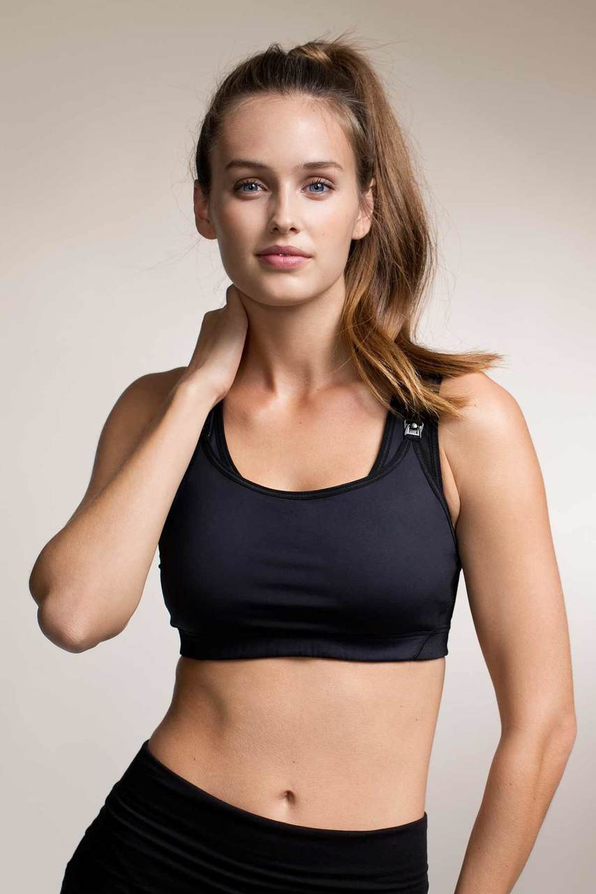 44585ab44fbeb Boob Design Fast Food Nursing Sports Bra, Black - Izzy's Mum