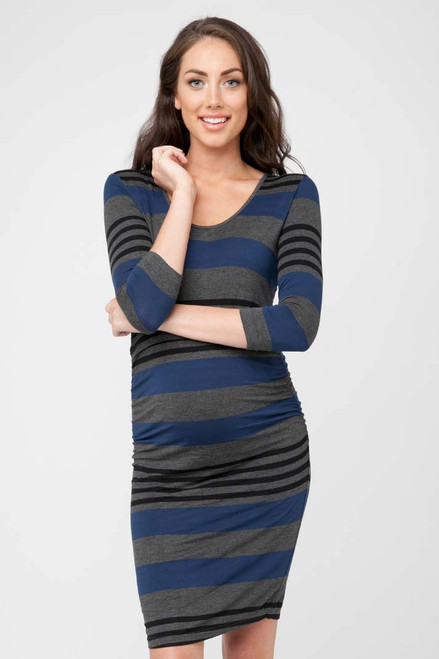 a1a7f4b82b72e Ripe Maternity Striped Nursing Tube Dress, Midnight blue, white and ...