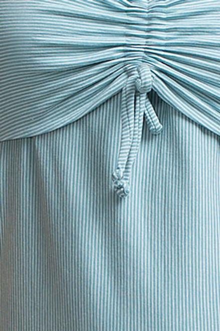 2fad414f2cf49 Boob Design Candy Nursing Dress, Aqua/Off-white Stripe - Izzy's Mum