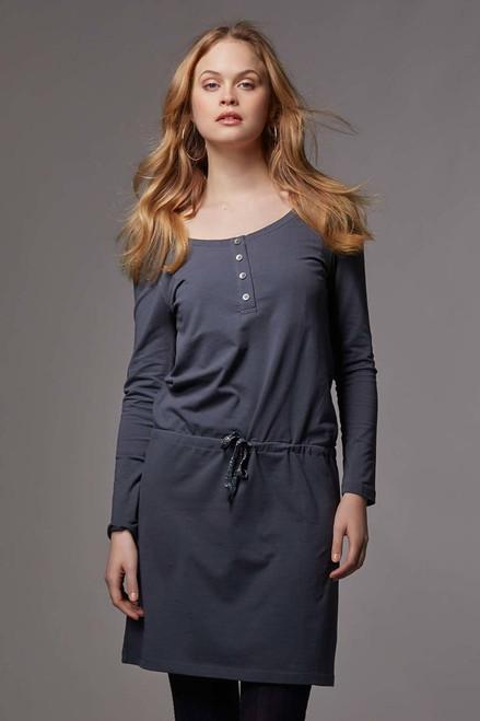 76f1758393131 Love Milk Hilda Long Sleeved Nursing Dress, Thunder grey