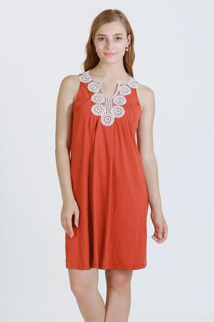 c7a938202b776 Mothers En Vogue Joole Nursing Dress, Tangerine