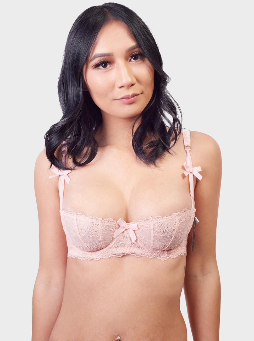 Angels Floral Lace Balconette Bra