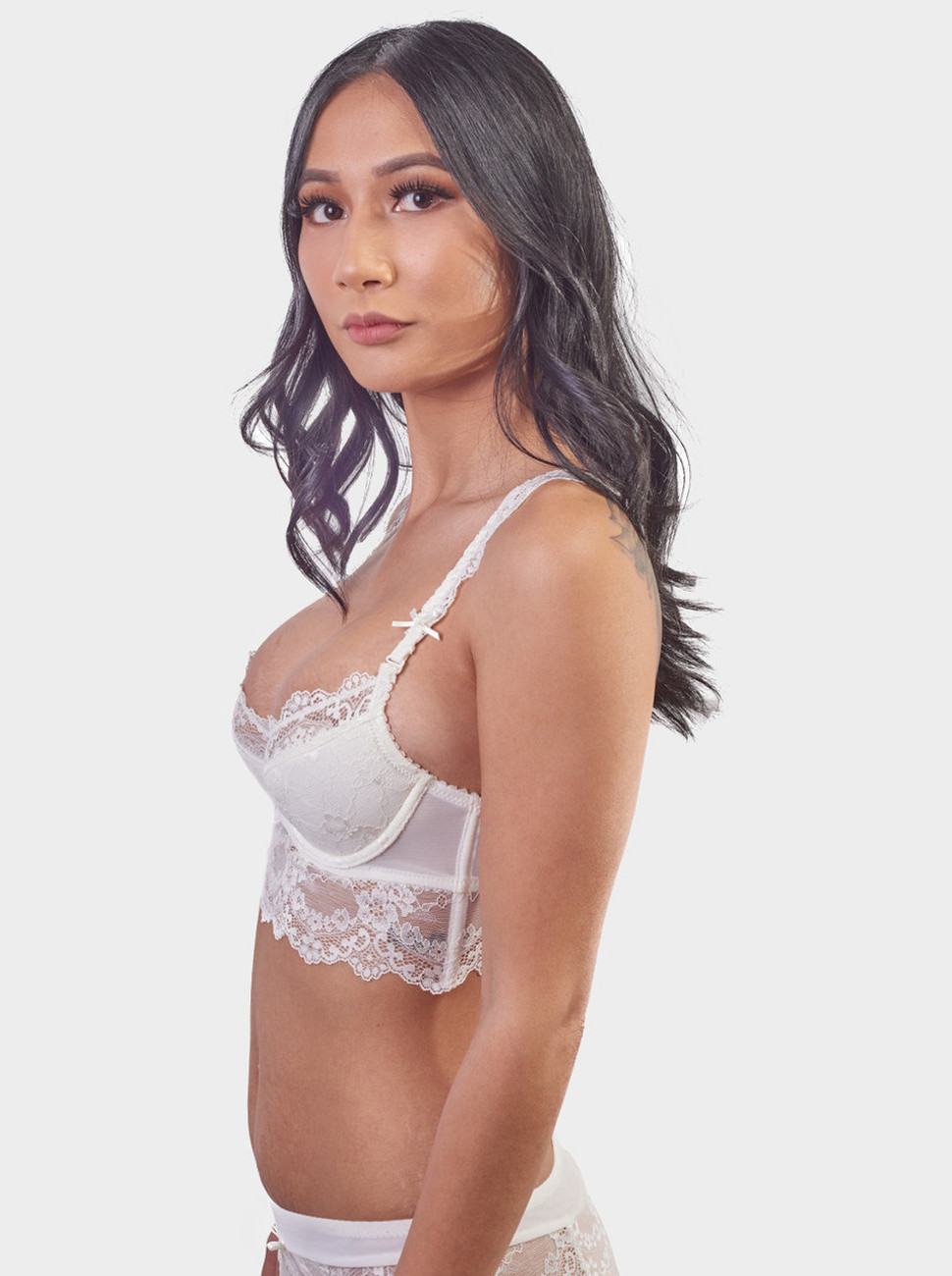 Long Line Lace Balconette Bra