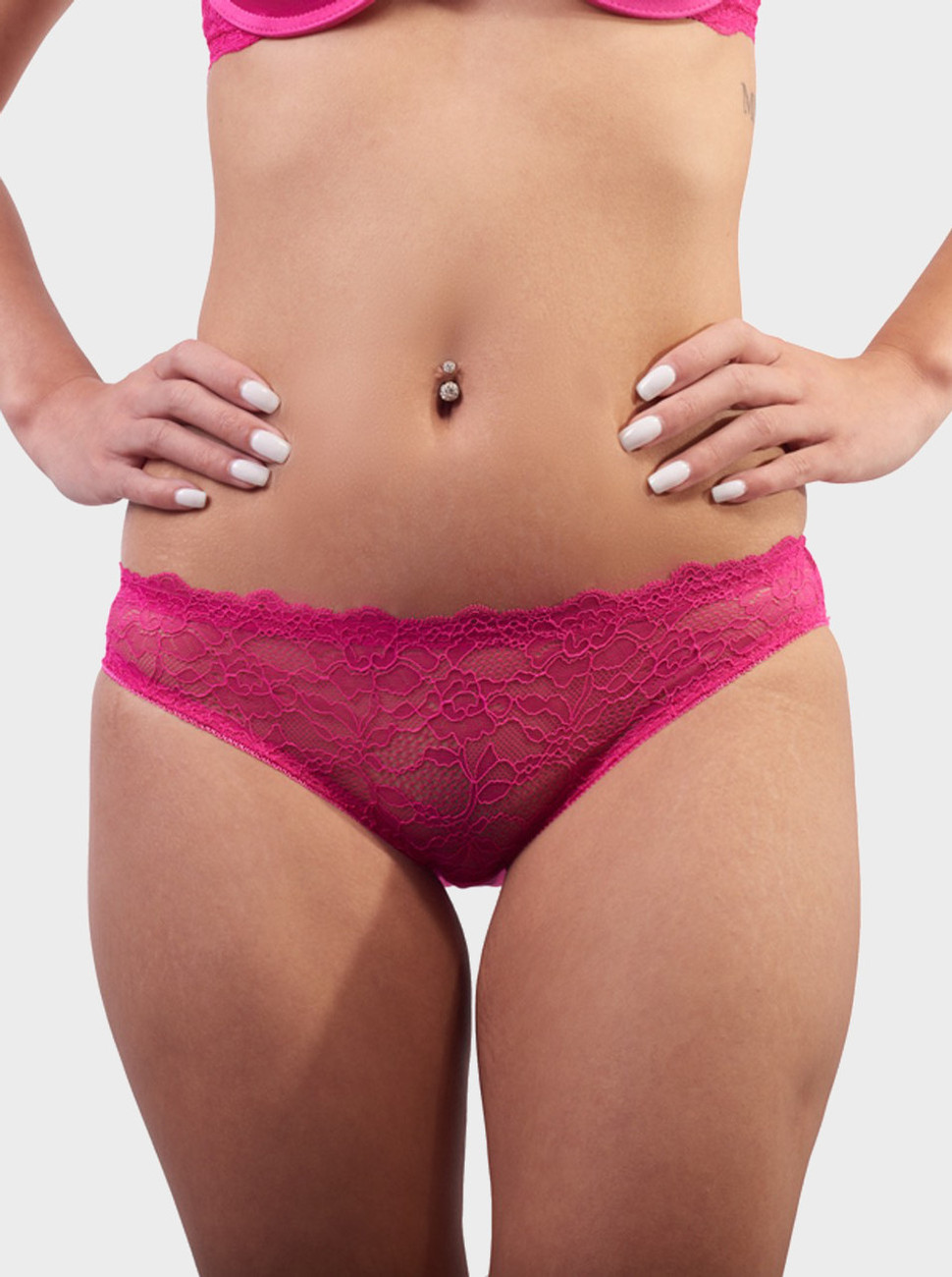 Curves & Moves Front Lace Brief