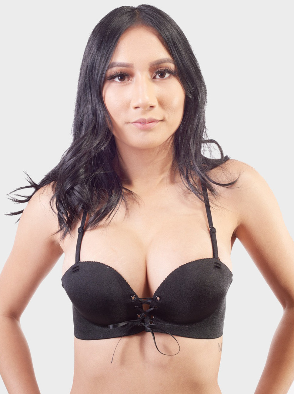 Front Lacing Push Up Bra
