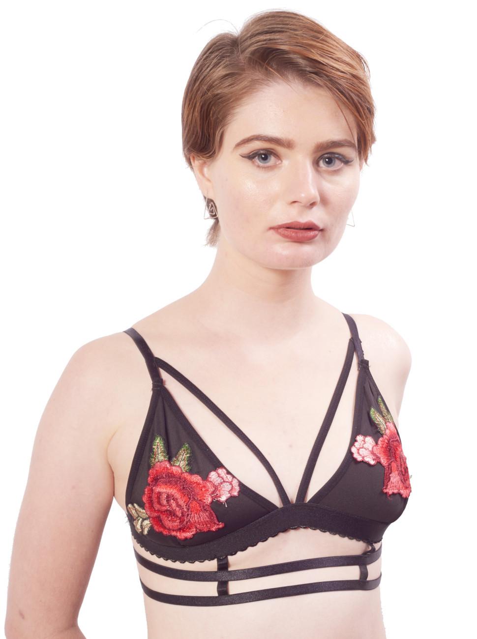 Rosette Strappy Bralette