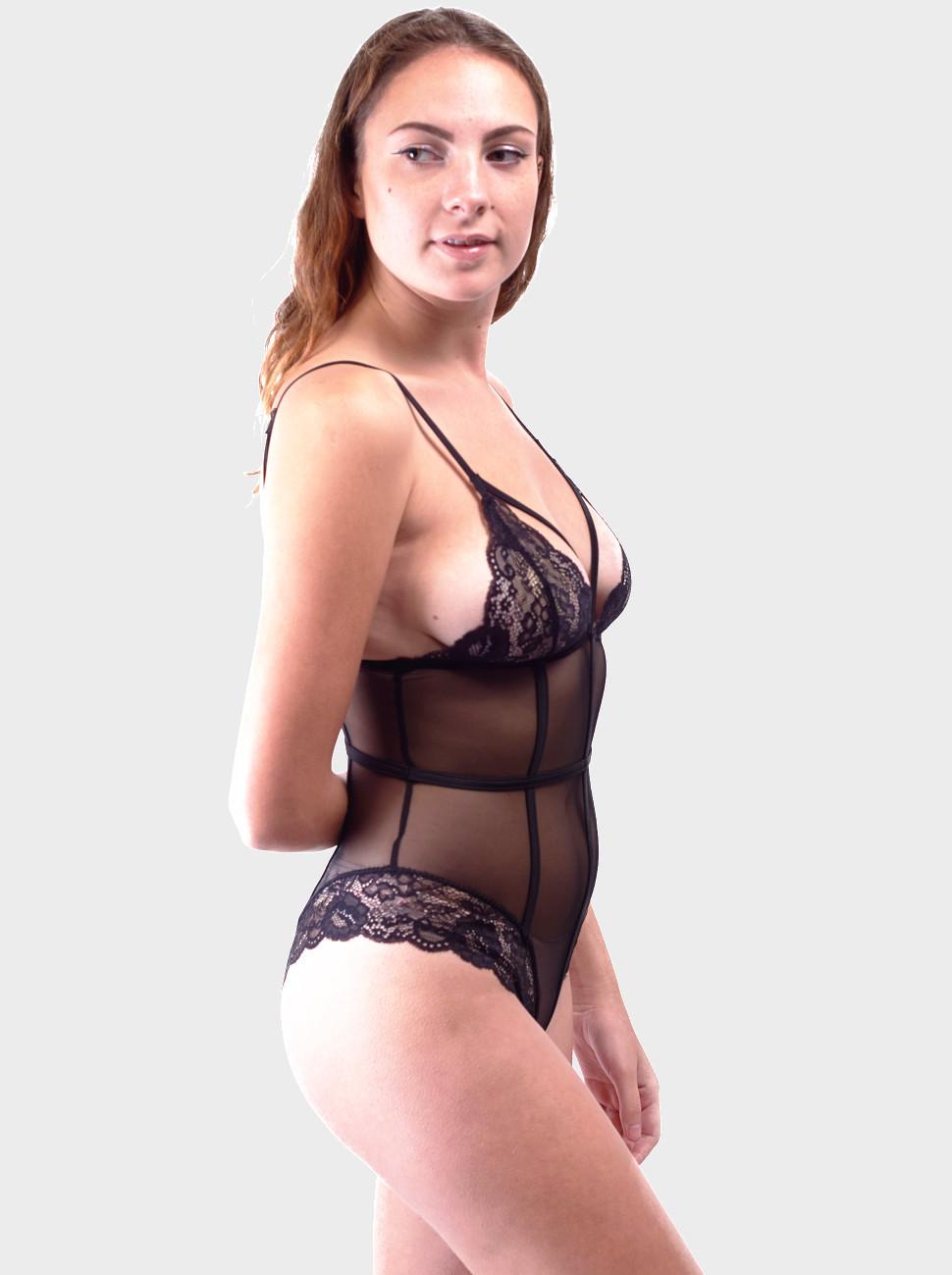 Scarlet Lace & Mesh Bodysuit