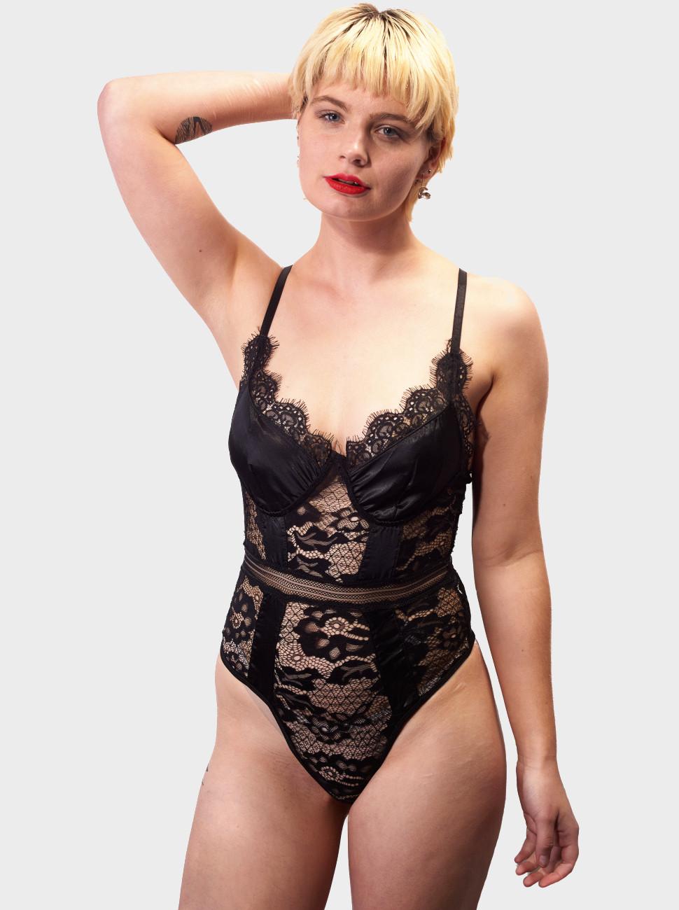 Clancy Satin & Lace Bodysuit