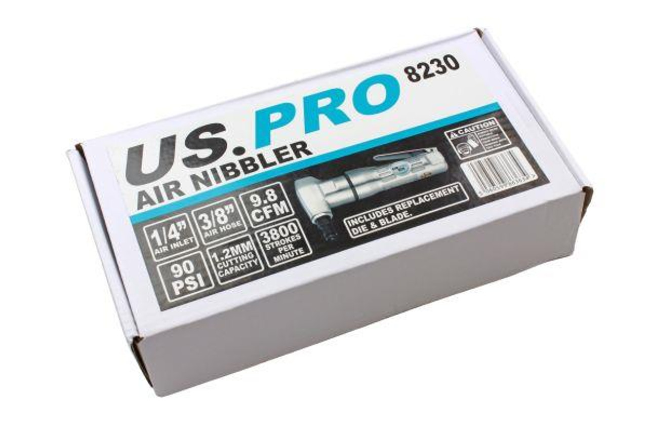US PRO Tools Air Metal Nibbler punch shear sheet cutter With Spare Blades 8230