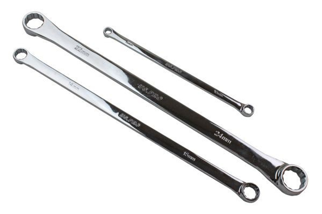 24mm 7pc Metric Double Ended Ring Spanner Aviation Wrench 12 Sided 8mm