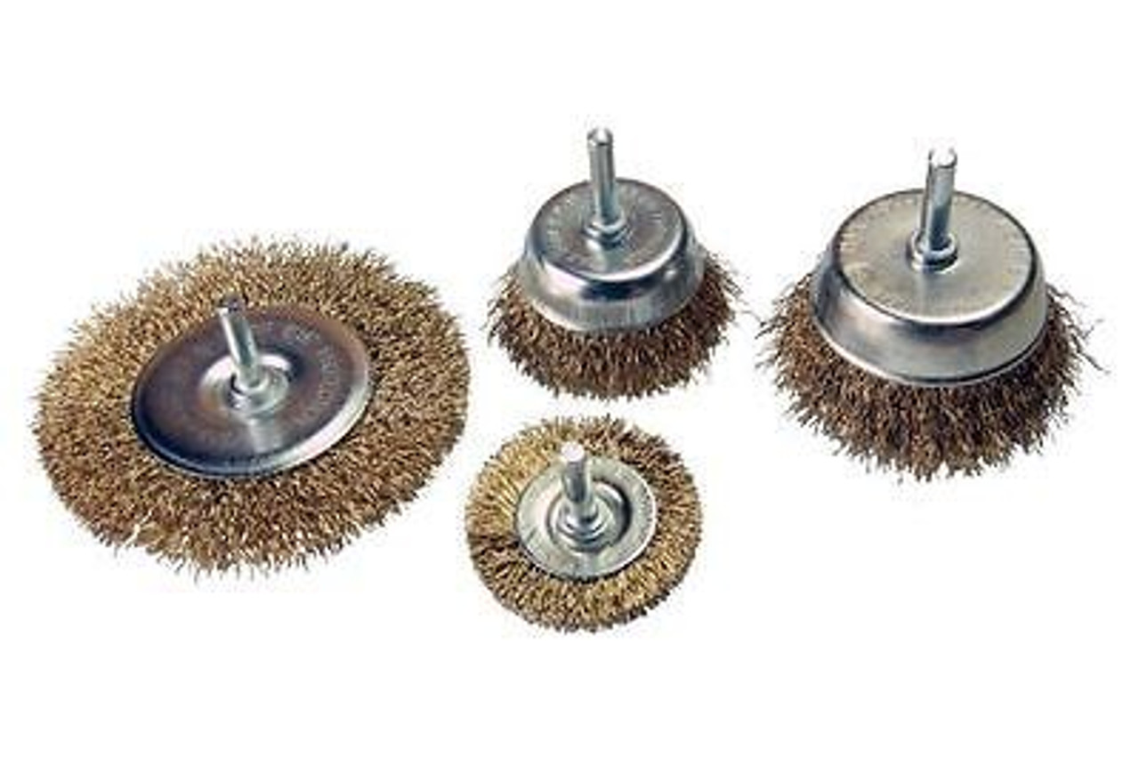 VEWERK BY BERGEN 6pc ROTARY WIRE BRUSH SET CUP BRUSH WHEEL SET B2106