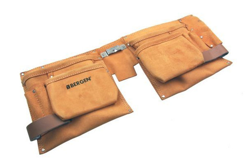 Bergen Double Leather Heavy Duty Tool Pouch With 11 Pockets 2959
