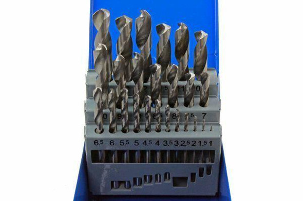 US PRO 25pc HSS Metal High Quality Drill Bit Set Metric 1mm - 13mm with Case 2642