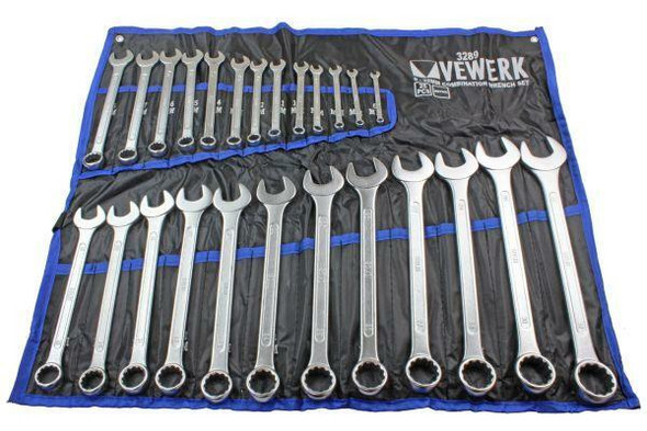 VEWERK Tools 25pc Metric Combination Spanner Wrench Set 6 - 32mm 3289