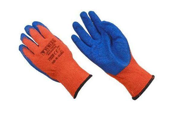 VEWERK 12 Pairs Of Hard Wearing Latex Coated Work Gloves Size 10 / Extra Large 7020