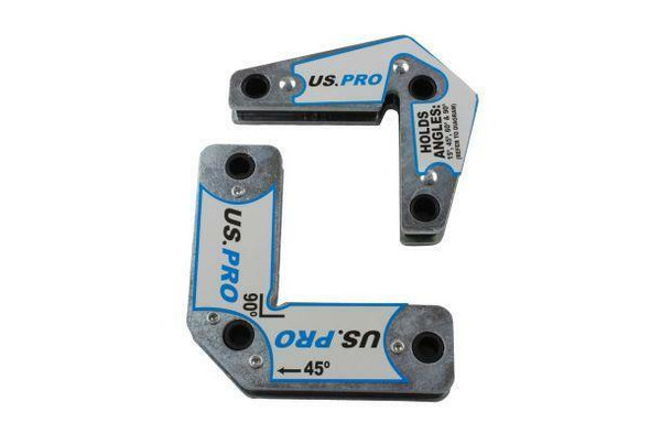 US PRO Tools 2pcs Multi-angle 15° 45° 60° 90° Welding Magnets Holders Positioning Kit 6739