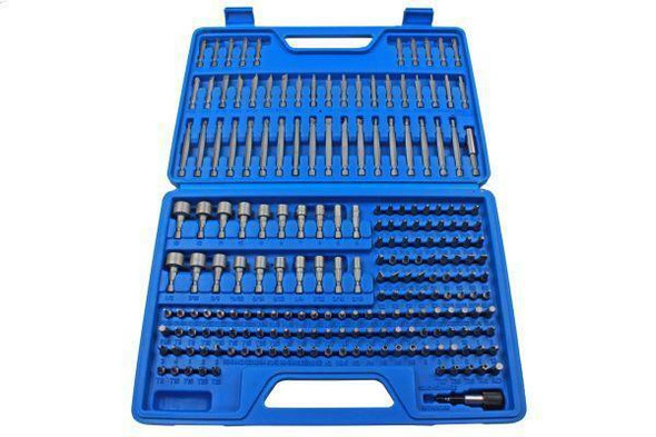 US PRO Tools 208pc Master Bit Set For Screwdriver, Drill 1/4 Bits Holder 3262