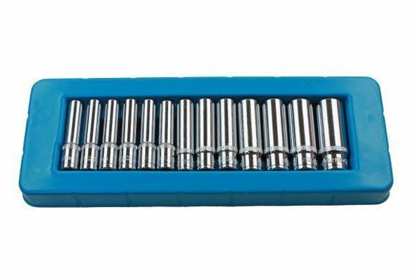 US PRO 13pc 1/4 dr Deep Sockets 4 - 14mm Single Hex 6 Point 1388