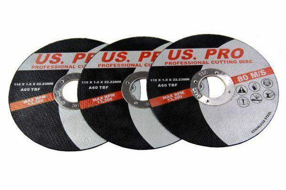 US Pro 50 Pack Professional 115 X 1.0 X 22.2mm Cutting Discs Stainless Steel B8151