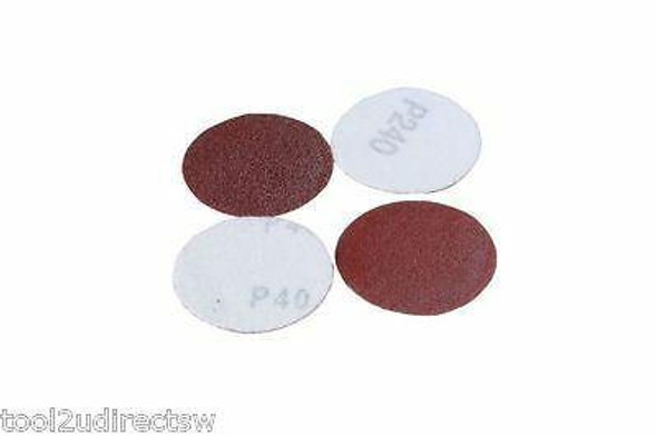 MIXED GRIT HOOK and LOOP VELCRO ABRASIVE SANDING PADS - DISCS 50mm 100pk B8113