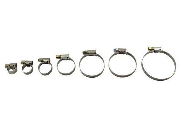 RESOLUT 70 Assorted 8 - 60mm zinc plated Steel Hose clamps Jubilee clip style 9115